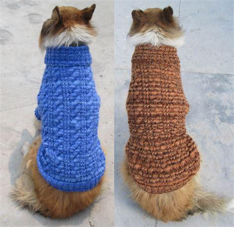 free pattern knit dog sweater easy large knit dog sweaters free patterns