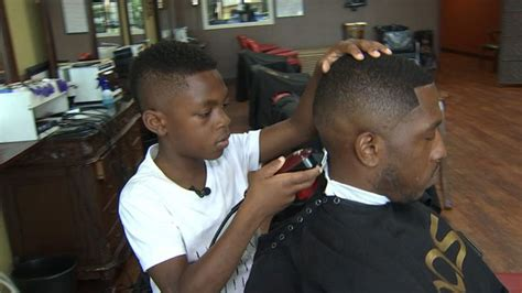 barber in milwaukee that will cut 1 year old 8 year old barber making a name for himself one client at