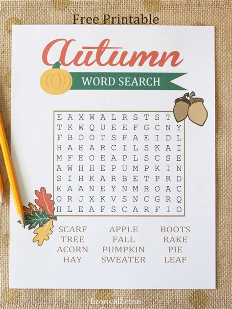 Search For Free By Name And Age Autumn Word Search For Liz On Call
