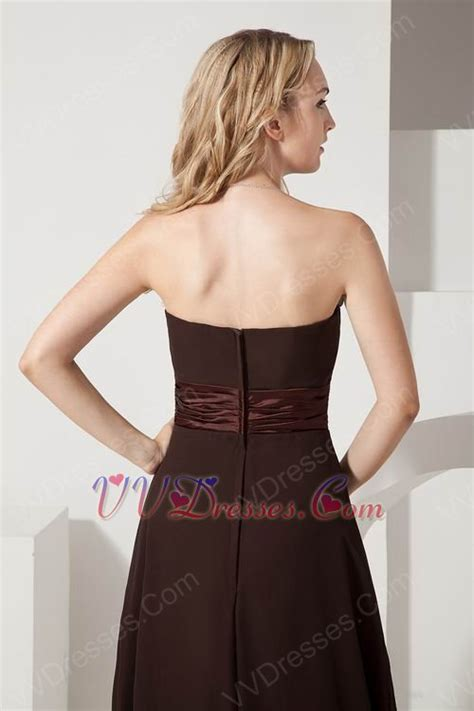 Mackandphil Aline Green Size 23 strapless aline flowers decorate brown evening dress