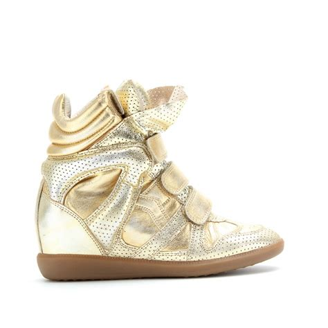 gold wedge sneaker high quality marant sneakers bird bird gold