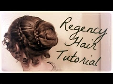 easy regency era hairstyle tutorial long hair 1800 s jane