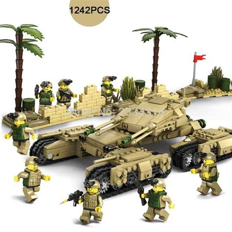Crushing On T Leclerc 2 by 1242pcs Tank War M1a2 T90 Challenger 2 Leclerc