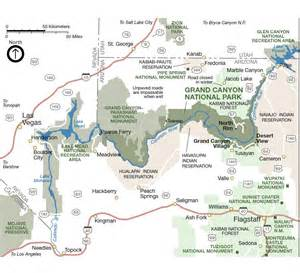 grand national park map arizona