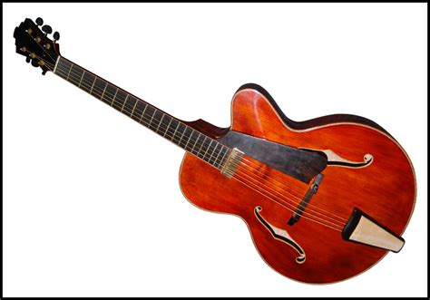 Handmade Electric Guitars For Sale - 16 inch archtop carved with solid maple fully handmade