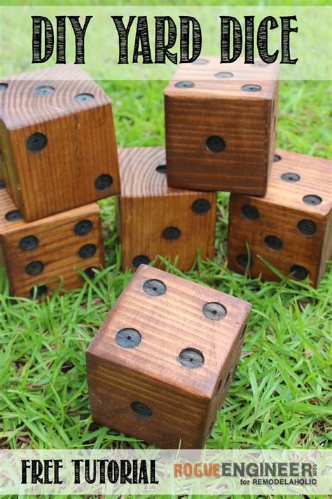 diy wooden games yard dice 187 rogue engineer