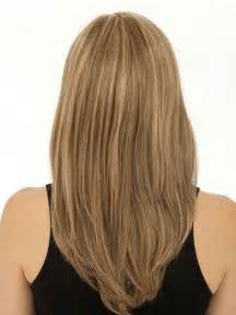 meidum hair cuts back veiw lovely layers medium length wavy highlighted hair back
