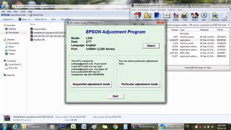 resetter epson l220 full version โปรแกรม reset epson l220 full