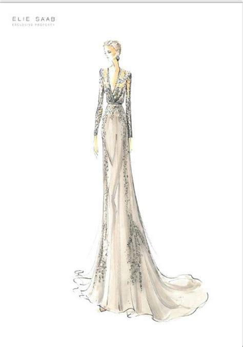 fashion illustration elie saab elie saab croquis drawing sketch illustration