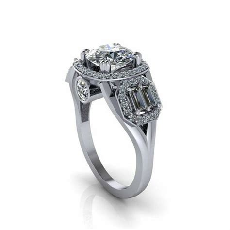 platinum engagement ring with halo and peek a boo