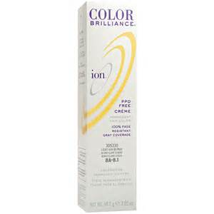 ion color brilliance brights mixed with developer ion color brilliance permanent creme 8a light ash