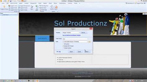 artisteer templates artisteer template export to