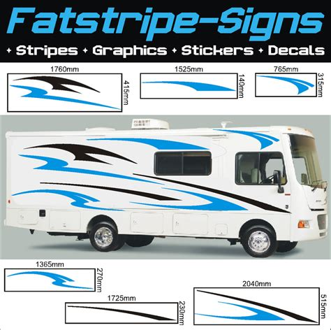 horsebox design graphics motorhome vinyl graphics stickers decals stripes set