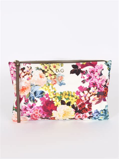 Dg Dolce And Gabbana Floral Canvas Satchel by Dolce Gabbana Flower Multicolor Canvas Clutch Luxury
