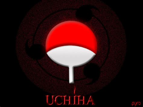 uchiha symbol wallpaper wallpapersafari