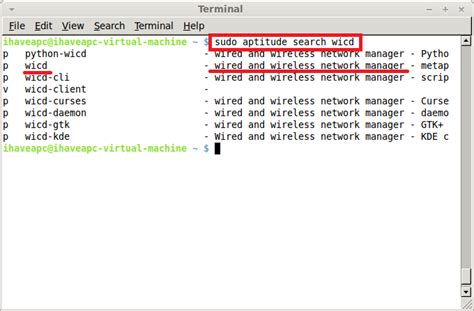 ubuntu aptitude tutorial how to quickly search for a package from terminal linux