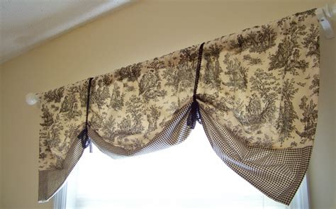 pattern for tie up valance black toile window valance banded hem tie up style black and
