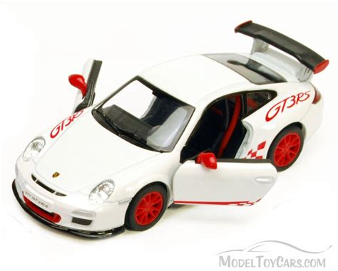 porsche toy car 2010 porsche 911 gt3 rs white kinsmart 5352d 1 36