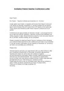 Letter To Parents Template From Teachers by Invitation Parent Conference Letter Hashdoc
