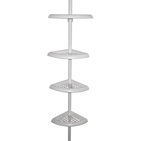 zenith bathtub and shower pole caddy white 5 best pole caddy great space saver for any bathroom