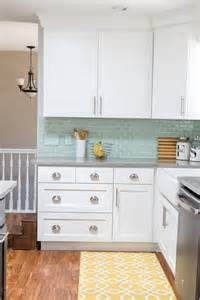 Colorful Kitchen Cabinet Knobs kitchen reveal before and after photos i wash you dry