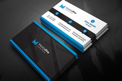 Modern Creative Business Card Business Card Templates Creative Market Cool Business Card Templates