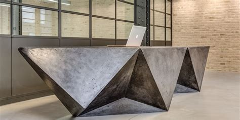 concrete reception desk commercial concrete design specialists