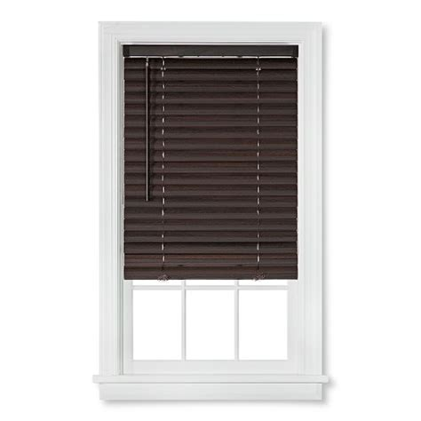 Brown Wood Blinds bali 2 quot cordless faux wood vinyl blinds brown target