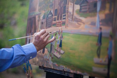 a painter wed on canvas live event and wedding painting