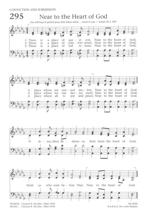 A Place Hymn Sheet Baptist Hymnal 1991 295 There Is A Place Of Rest Hymnary Org