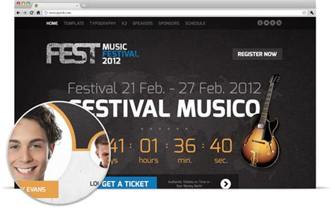 Fest Gavickpro Outstanding Template For Joomla Events Joomla Gavickpro Joomla Event Template