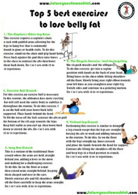 top 5 best exercises to lose belly on