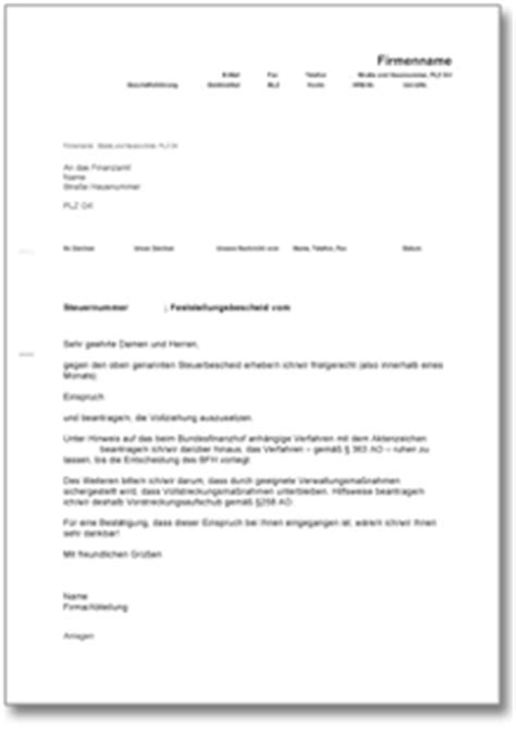 Musterbrief Finanzamt Dehoga Shop Einspruch Gegen Steuerbescheid Wegen Eines Musterprozesses Kaufen