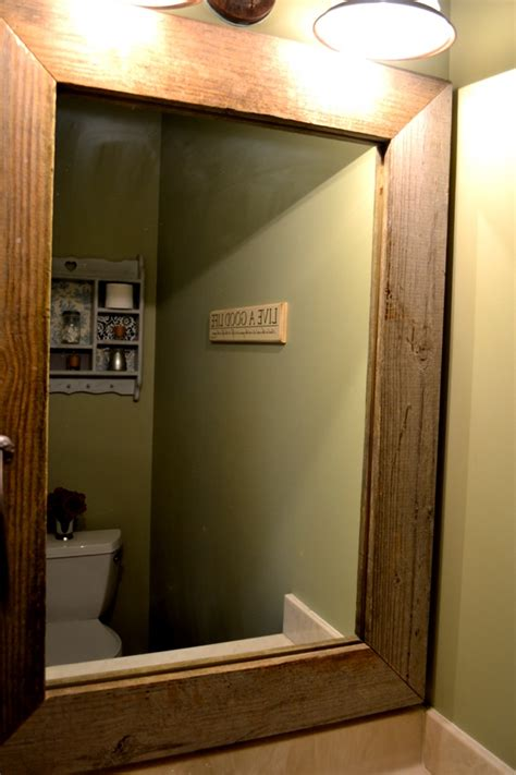 how to frame a bathroom mirror with wood wood mirror frame part 2