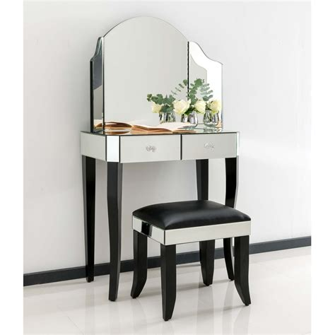 mirrored dressing table sorrento mirrored dressing table set furniture