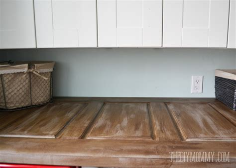 make a laundry room countertop from an door the diy