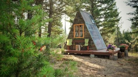 tiny a frame cabin took 3 weeks to build and cost only