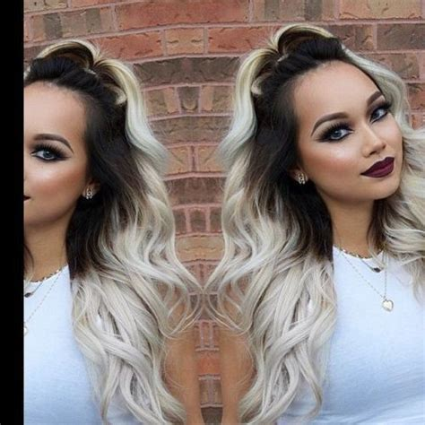 platinum gray ombre hairstyles dark brown platinum ombre hair dyed hair pinterest
