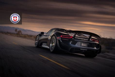porsche 918 spyder 2015 black black porsche 918 spyder weissach adorned with hre wheels