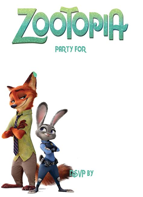 printable zootopia invitations free printable zootopia invitation template dolanpedia