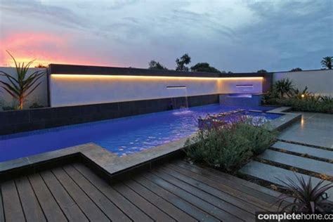 modern pool is a structural masterpiece completehome