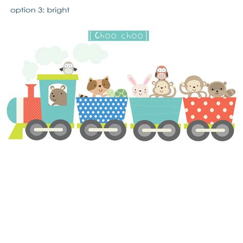 Repositionable Wall Stickers animal train fabric wall sticker by littleprints