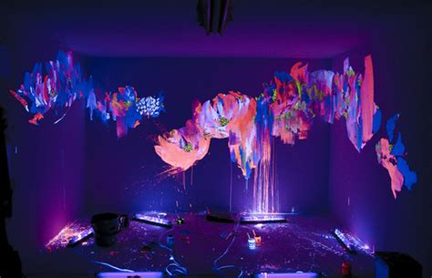 colorful creative glow paint rainbow room image 52023 on favim