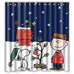 Snoopy Shower Curtain Amazon Com Hertanercase Peanuts Christmas Snoopy Custom