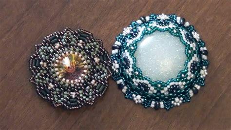how to make bezel jewelry beadsfriends beaded bezel rivoli swarovski and beaded