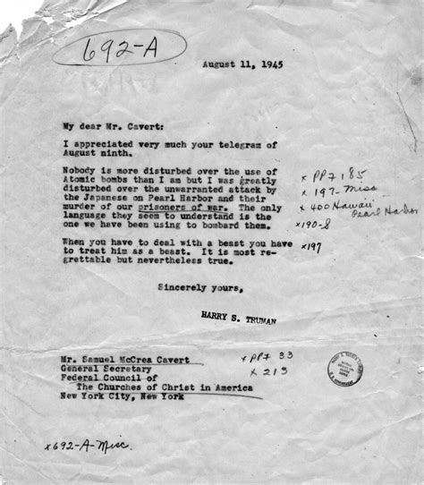 manhattan project research paper truman library correspondence between harry s truman and