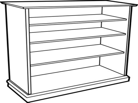 bookshelf clipart black and white