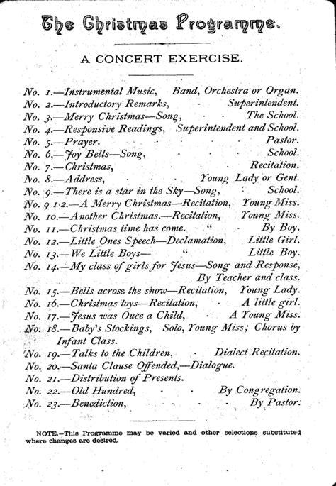 introduction speech for x mas a programme 1888