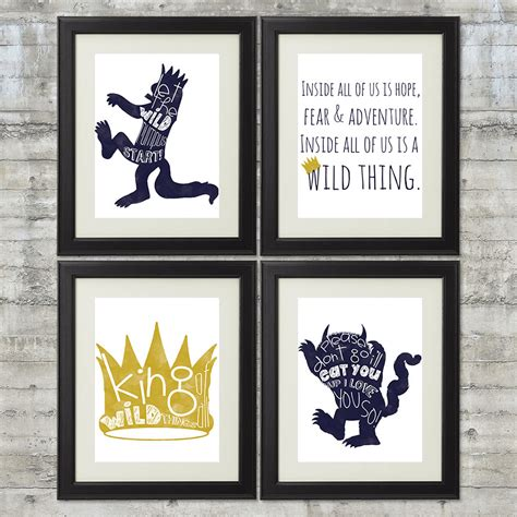 printable version of where the wild things are where the wild things are printables set of 4 8x10 printable