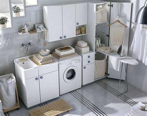 arredare bagno lavanderia piccolo mobile lavandino